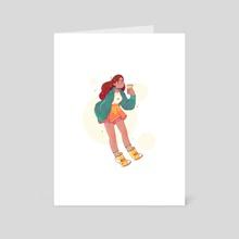 Coffee Girl - Art Card by Elena Resko