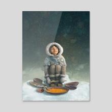 Winter Girl - Acrylic by Antonio Caparo