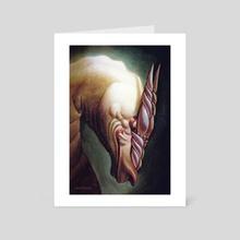 White Dragon - Art Card by Levon Jihanian