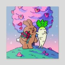 Valentine's - Acrylic by Lillian Xie