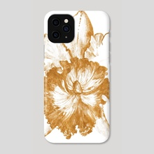 Gold Orchid XII - Phone Case by Paulina Navarro