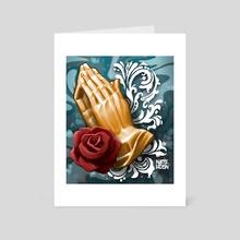 Praying Hands - Art Card by Nate Hudson