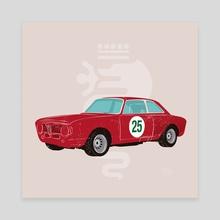 Alfa Romeo Classic - Canvas by LeftHandedGraphic