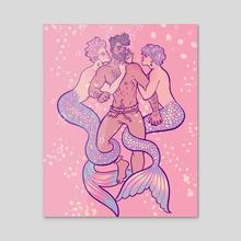 Swim with us - Acrylic by Luisl4nd