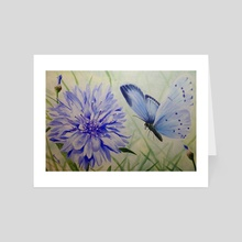 Holly Blue Butterfly - Art Card by Amanda Monk