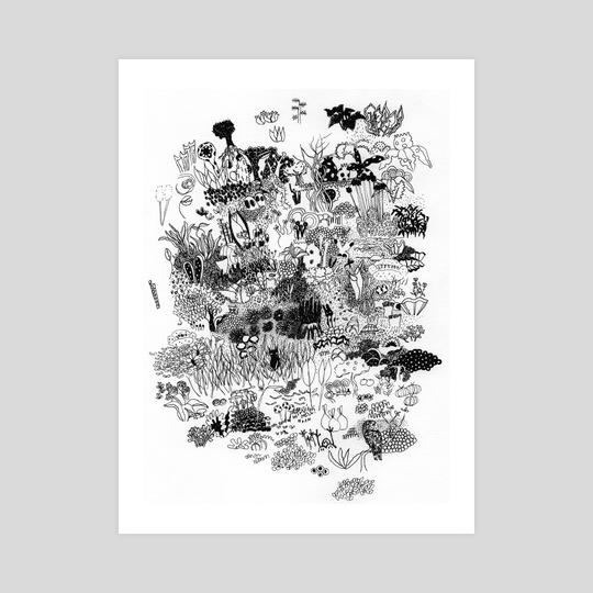 Owl in garden by Galeria Ginkgo