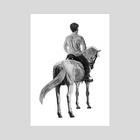 Raluca and Jakob print - Art Print by Zach Meyer