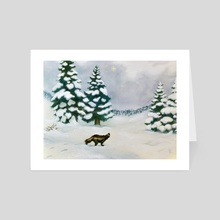 The Wolverine and the Ice Mist - Art Card by Staffan Alsparr