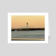 Scarborough lighthouse - Art Card by Eve King