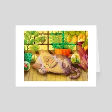 Cat Nap - Art Card by My Zoetrope