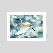Florida Egret - Art Card by Indré Bankauskaité
