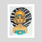 Blondie - Art Print by Nilla Skaalu