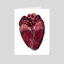 Anatomical Heart - Art Card by Rachel Rainey