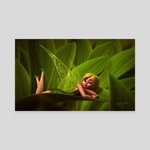 Leaves Fairy - Canvas by Heidy Curbelo García
