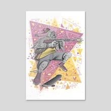 "Skate Wars Yeti - Acrylic by Fernando ""Calakka"" Regalado"