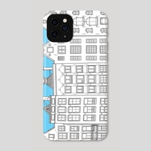 Dancing houses - Amsterdam - Phone Case by Janko.