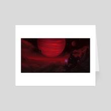 Deeply Red - Art Card by Marissa Rivera