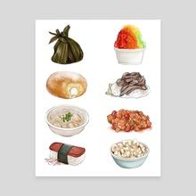 Hawaiian Food - Canvas by jungmi k