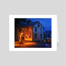 Church St: Dusk - Art Card by Martha Wirkijowski