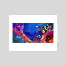 In the Reef - Art Card by Carly A-F