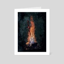 Dark Souls *Bonfire* - Art Card by SucculentBurger