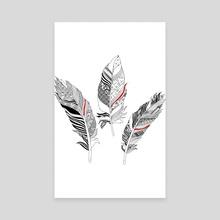 Feathers - Canvas by Alexandre Ibáñez