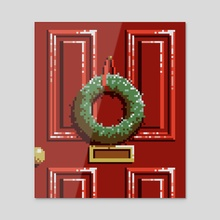 Wreath - Canvas by Kevin Houlihan