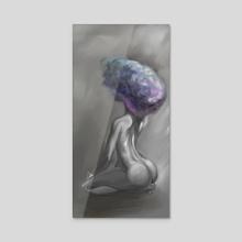 Afro Thunder - Acrylic by Dayne 'Chiké' Morrison