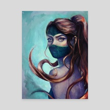 Akali - Canvas by Ida Stoycheva