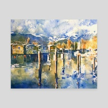 Mosquito Creek Marina - Canvas by Tim Bennison