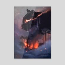 Rainforest - Acrylic by Marta Stachowiak