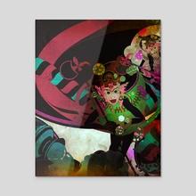 monkey f - Acrylic by wudufu