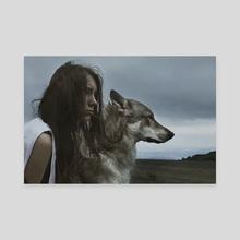 THE WOLF GIRL 3 - Canvas by Marta Bevacqua