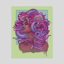 Medusa Candy Rainbow - Canvas by Courtney Trowbridge