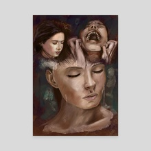 Between Thoughts and Madness - Canvas by Nicola Sodano