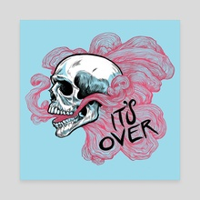 Skull - Canvas by Alice Holleman