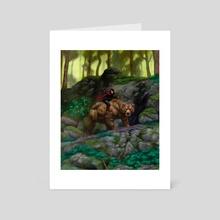 Bear Rider - Art Card by Staffan Alsparr
