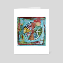 """be love mandala"" - Art Card by Kim Beller"