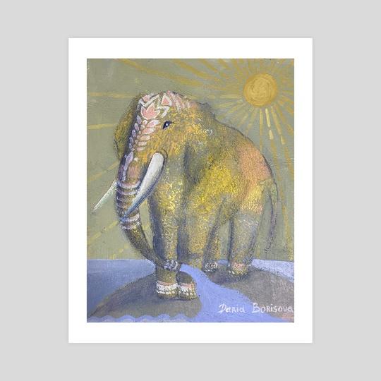 Golden Elephant  by Daria Borisova