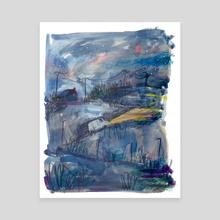 midnight drive - Canvas by Sarah van Dongen