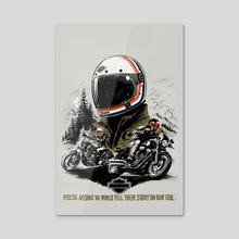 Story Biker - Acrylic by bob drider