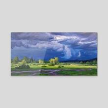 Meadowlark Skies - Acrylic by Jordan K Walker