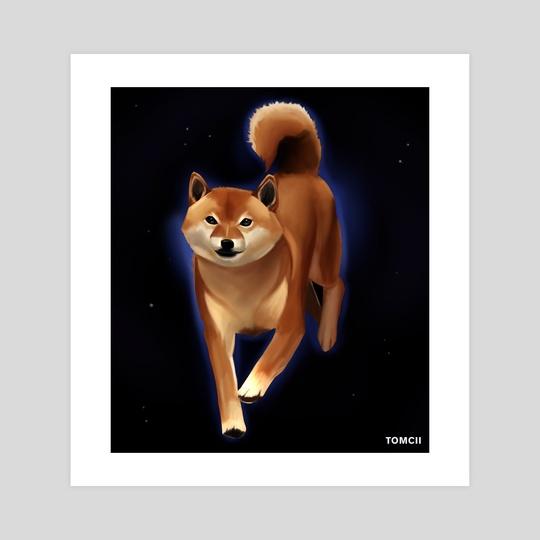 Shiba Dog by Tomcii Art