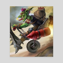 Goblin Bomber - Canvas by Steve Donegani