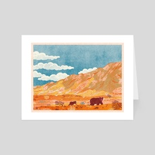 Gobi Desert Bears - Art Card by Nano Février