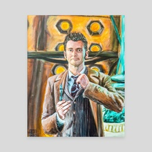The Tenth Doctor - Canvas by Leo Flander