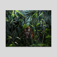 Tiger in the jungle - Canvas by Simargl Artist