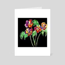Flowers 3 - Art Card by Phyllis Sosa Lourenço