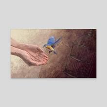 Flightless Bird American Mouth - Acrylic by Alexi Molinari