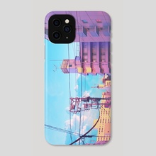 Pastel City - Phone Case by Elora Pautrat